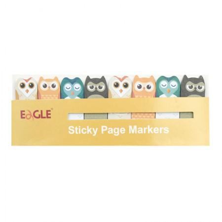 Marcador de páginas bichinhos - Coruja - Eagle