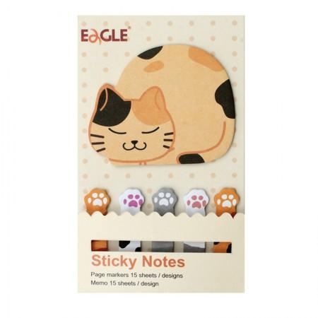 Marcador de páginas bichinhos - Gato - Eagle