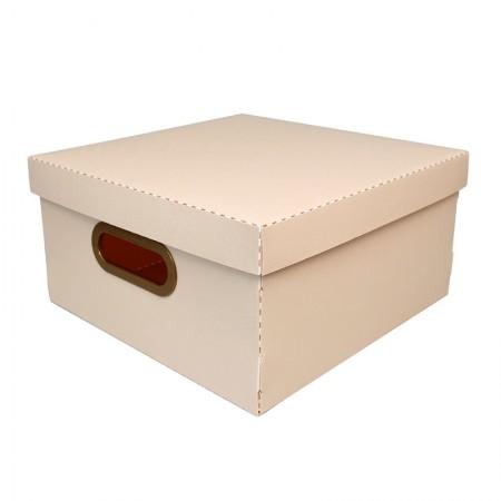 Caixa organizadora média linho - rosa claro - 2205.W - Dello