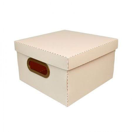 Caixa organizadora pequena linho - rosa pastel - 2204.W - Dello