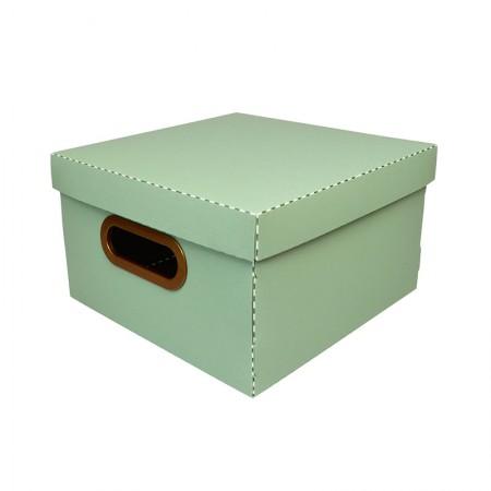 Caixa organizadora pequena linho - verde - 2204.V1 - Dello