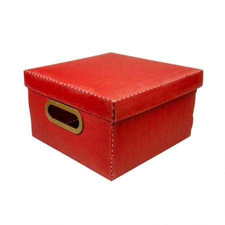 Caixa organizadora pequena linho - vermelha - 2204.U - Dello