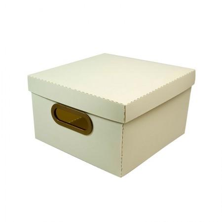 Caixa organizadora pequena linho - cinza pastel - 2204.G - Dello