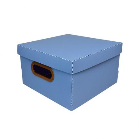 Caixa organizadora pequena linho - azul pastel - 2204.B - Dello