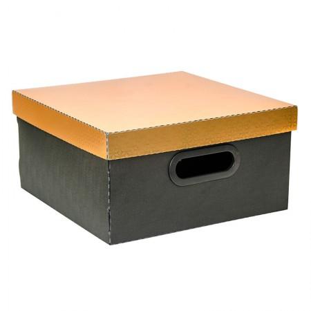 Caixa organizadora média protêa - dourada metalizado - 2198.DR - Dello