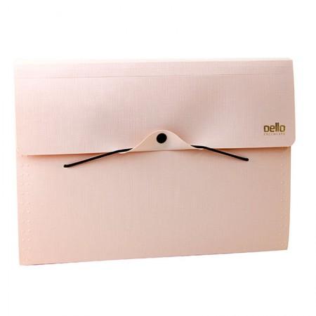 Pasta sanfonada A4 com 12 divisórias executive - rosa claro - 6094.W - Dello