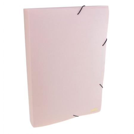 Pasta com aba elástico ofício lombo 40mm - Executive - rosa claro - 0269.W - Dello
