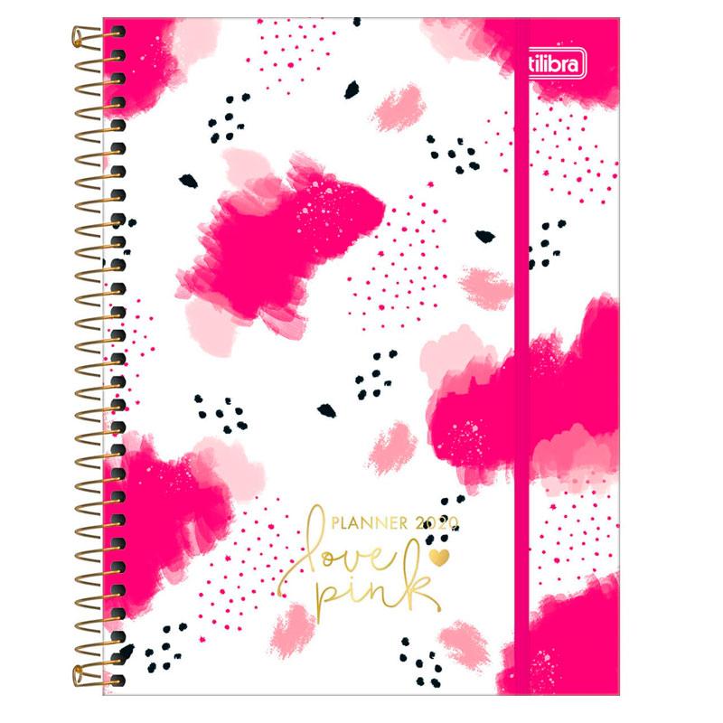 Agenda planner espiral Love Pink 2020 - Branco - Tilibra
