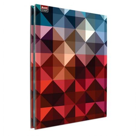 Pasta catálogo ofício 5351 - abstrato - com 25 plásticos - Chies