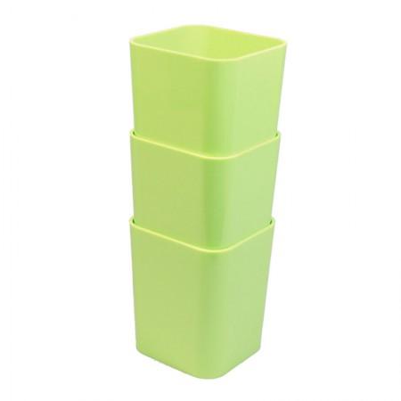 Porta objetos com 3 unidades - verde pistache - 6413.V - Dello