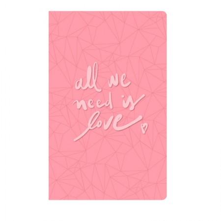 Caderno capa flexível Papertalk Pink Stone Rosa 4523-4 Quadriculada - Ótima