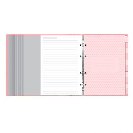 Caderno argolado Pink Stone Rosa 4501-2 - Ótima