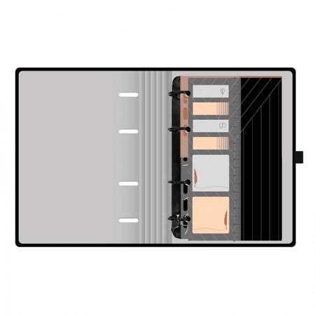 Planner Maxi Noir preto - 4644-6 FC PN - Ótima