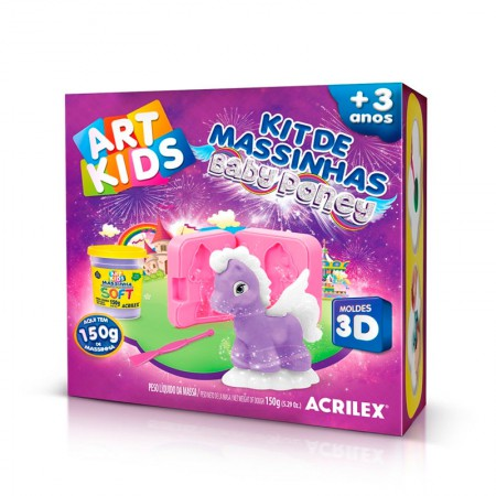 Massinha Kit Baby Poney Violeta - Art Kids - 40044 - Acrilex