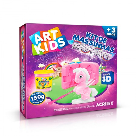 Massinha kit Baby Poney Rosa - Art Kids - 40043 - Acrilex