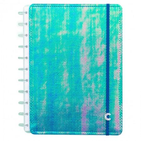 Caderno inteligente universitário Azul Holográfico CIGD4058
