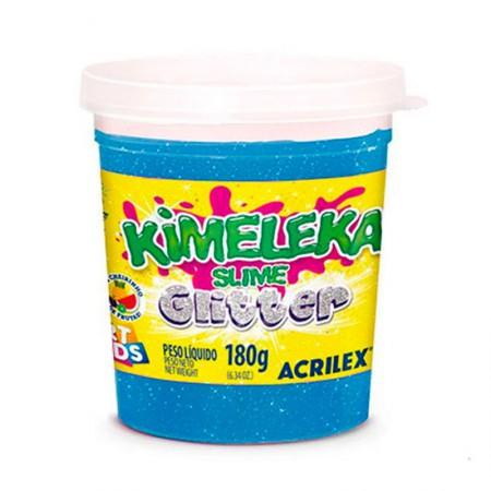 Kimeleka Art Kids com glitter 180g - Azul 204 - Acrilex