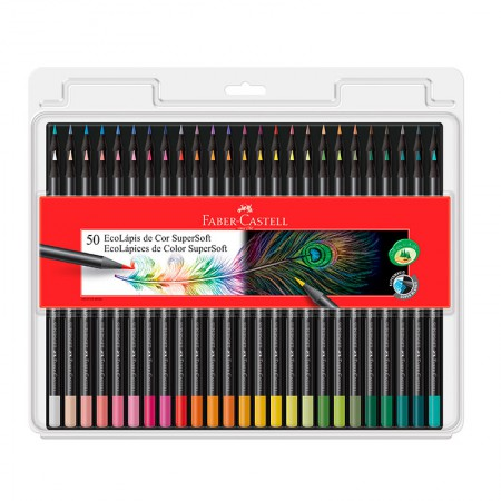 Lápis de cor Super Soft 50 cores 120750SOFT Faber-Castell
