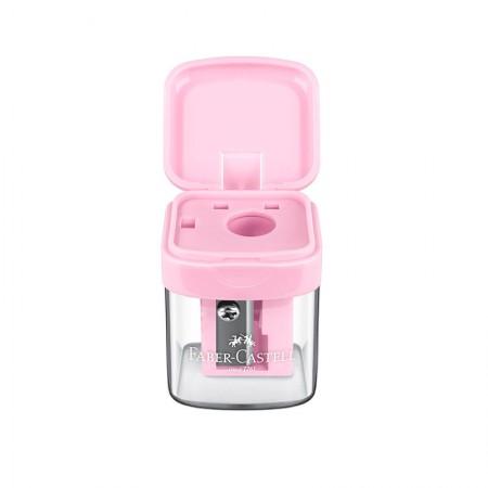 Apontador com coletor mini box rosa pastel - SM/MINIBOX - Faber-Castell
