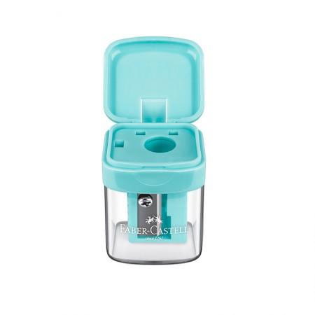 Apontador com coletor mini box verde pastel - SM/MINIBOX - Faber-Castell