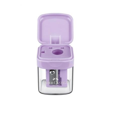 Apontador com coletor mini box lilás pastel - SM/MINIBOX - Faber-Castell