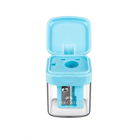 Apontador com coletor mini box azul pastel - SM/MINIBOX - Faber-Castell