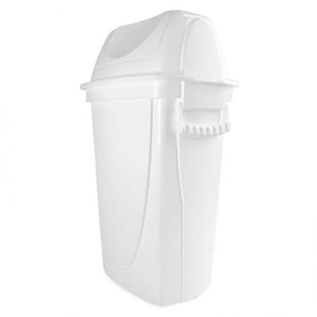 Cesto de lixo plástico Branca basculante - 4746 - 28 Litros - Plasútil