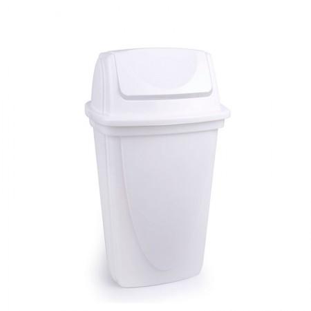 Cesto de lixo plástico Branca basculante - 4744 - 9 Litros - Plasútil