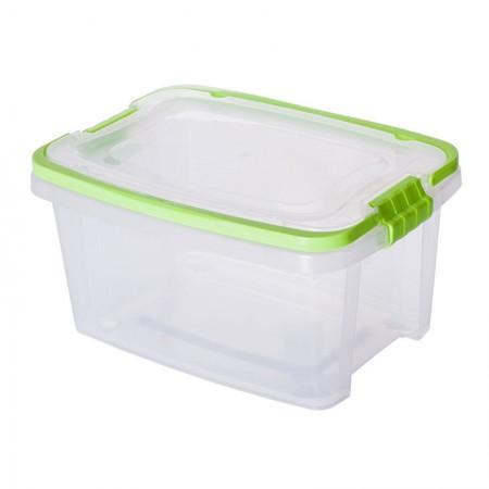 Caixa organizadora Gran Box alta com alça e trava - Verde - 8338 - 2,6 Litros - Plasútil