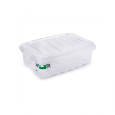 Caixa organizadora box baixa cristal 2891 9,3L Plasútil