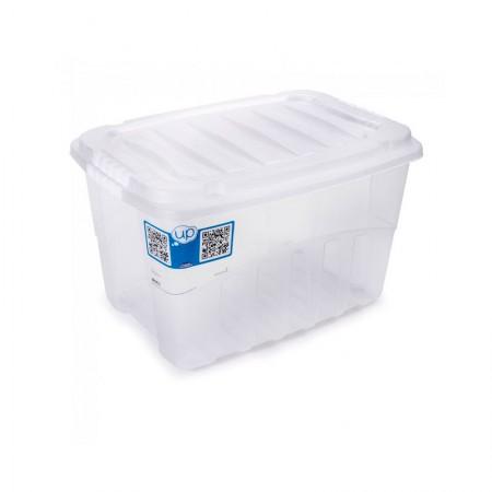Caixa organizadora box alta - cristal - 2890 - 19,8 litros - Plasútil