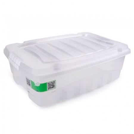 Caixa organizadora box baixa cristal 2773 38L Plasútil