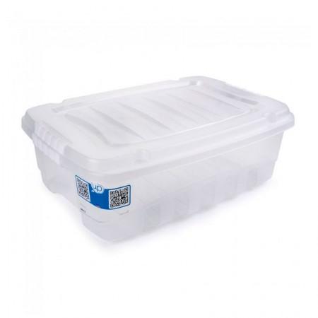 Caixa organizadora box baixa cristal 2772 26,5L Plasútil