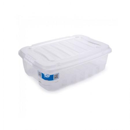 Caixa organizadora box baixa - cristal  - 2771 - 13 litros - Plasútil