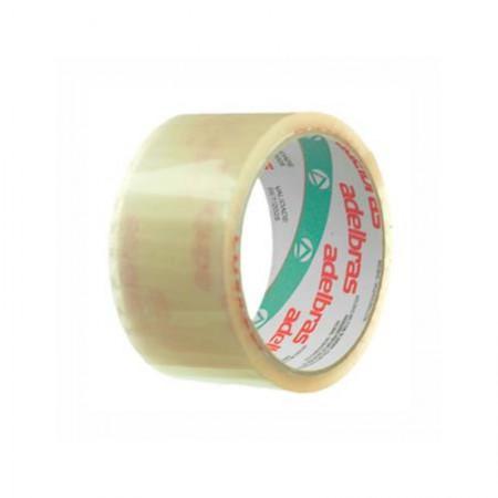 Fita para embalagem transparente - 48mm x 45m - Qualitape - Adelbras