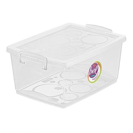 Caixa organizadora box alta - cristal - OR80400 - 7,5 litros - Ordene