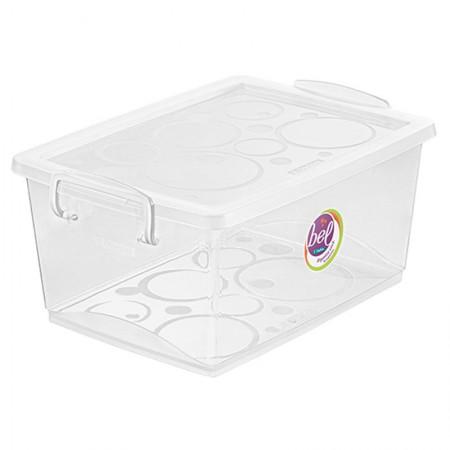 Caixa organizadora box alta - cristal - OR80300 - 4 litros - Ordene