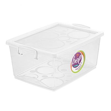 Caixa organizadora box alta - cristal - OR80500 - 15 litros - Ordene