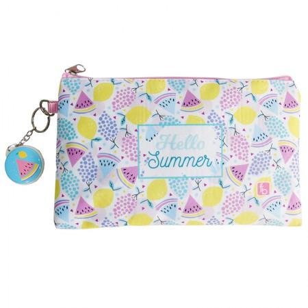 Estojo escolar especial com ziper - 10-6472/20 - Envelope Hello Summer - Franesb