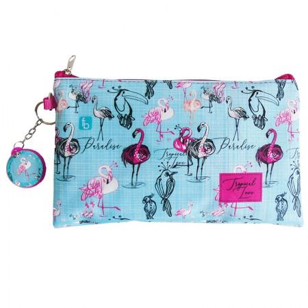 Estojo escolar especial com ziper - 10-1140/20 - Envelope Flamingo - Franesb