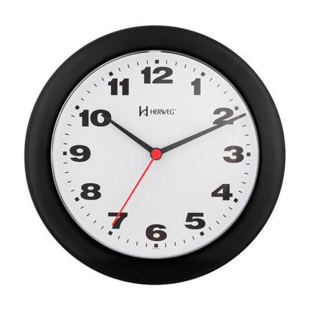 Relógio de parede 6103 - preto - Herweg
