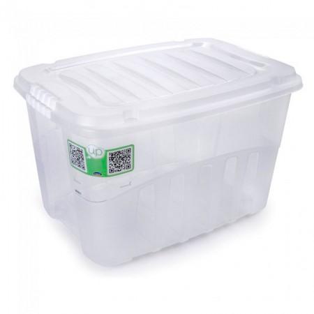 Caixa organizadora box alta - cristal  - 2759 - 29 Litros - Plasútil