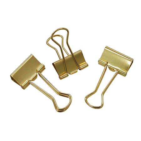 Prendedor de papel 19mm dourado c/ 12 unidades - 178250 - Tilibra
