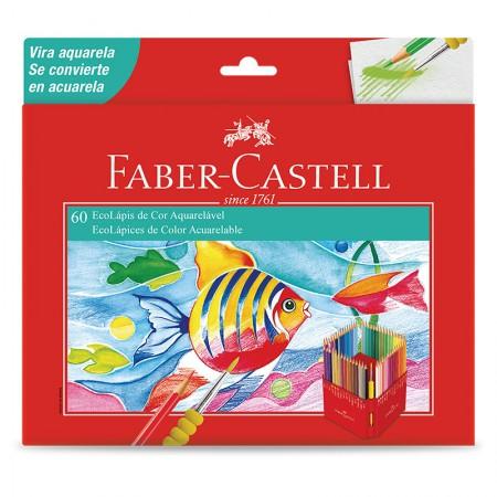 Lápis de cor 60 cores aquarelável - 120260G - Faber-Castell