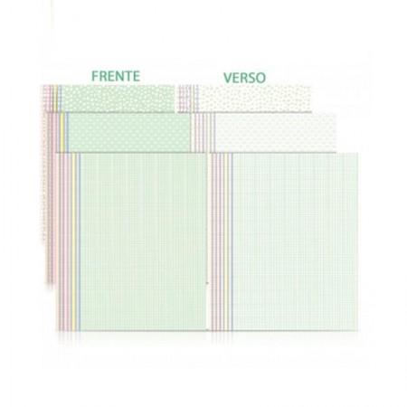 Bloco ecocores visual 3 180g 230x320mm 36 fls 7cores pastel Novaprint
