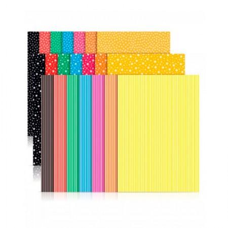 Bloco ecocores visual 2 180g - 230x320mm - 36 folhas com 7 cores - Novaprint