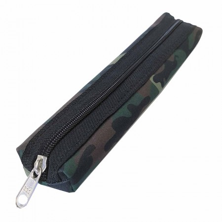 Estojo escolar com ziper Canudinho Camuflado Verde Franesb