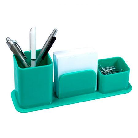 Porta lembrete/lápis/clips - verde - 3031.T - Dello