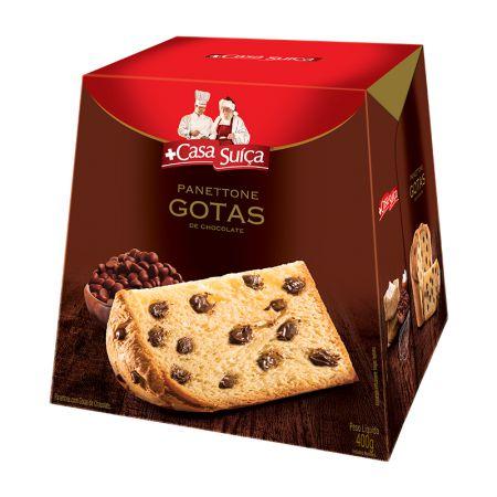 Panettone gotas de chocolate 400g - Casa Suiça