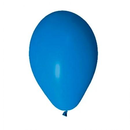 Bexiga azul royal número 7 - Art Festa - com 50 unidades - Balloontech